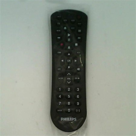 Refurbished Philips 3-Device Universal Remote Control, Works with Smart TVs, LG, Vizio, Sony, Blu Ray, DVD, Roku, Streaming Players, Auto (Philips Universal Remote Codes For Lg Tv)