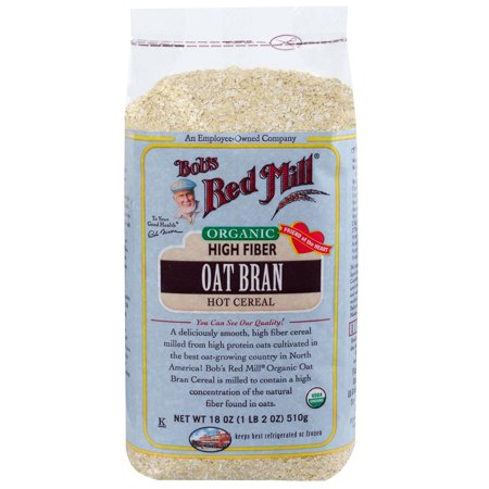 Bob's Red Mill, Organic, Oat Bran Hot Cereal, 18 oz (pack of 4)