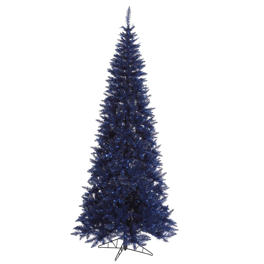 "Vickerman 430897 - 10' x 50"" Navy Blue Slim Fir Tree Christmas Tree (K160585)"