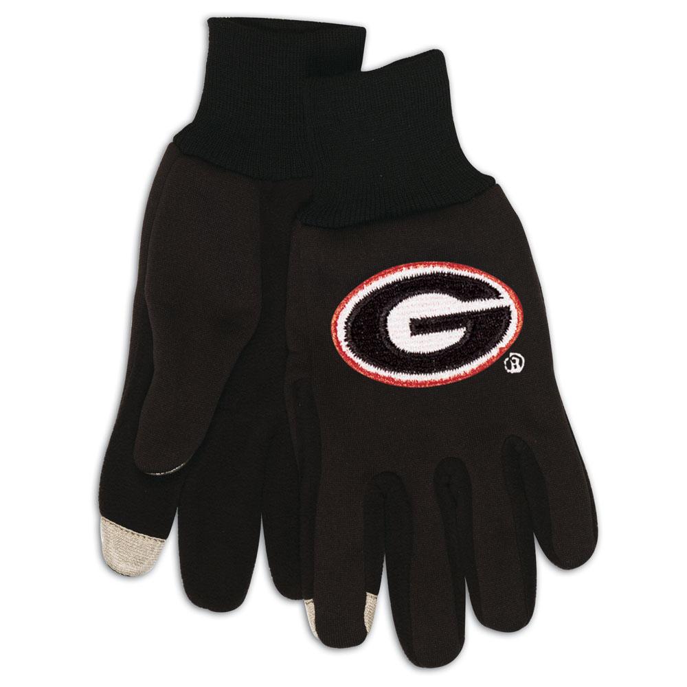 Georgia Bulldogs NCAA Technology Gloves (Pair)