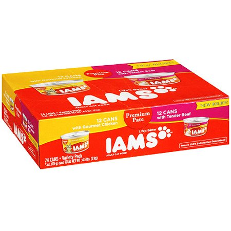 Iams Premium Pate Variety Pack Wet Cat Food, (24 Pack) (Iams Premium Protection)