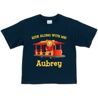 Personalized Daniel Tiger's Neighborhood Trolley Toddler Boy Navy T-Shirt