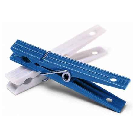 Whitmor Plastic Clothespins Blue & White Set of