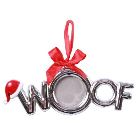 Woof Shaped Dog Pet Photo Frame Christmas Holiday Ornament Resin (Photo Frame Ornament)