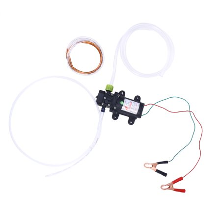 60W 12V 0.8Mpa Engine Oil Transfer Pump On/Off Switch for Car Van Truck (Black)
