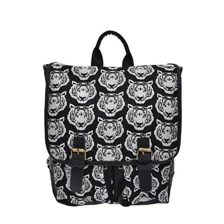 Fashion Faux-Leather Tiger Backpack