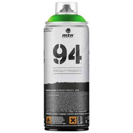 Green Body Paint Spray (Montana MTN 94 Series 400ML FLUORESCENT GREEN Spray)