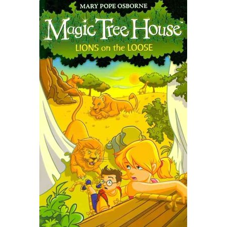 Magic Tree House 11: Lions on the Loose (Paperback) - Dark Magic Book
