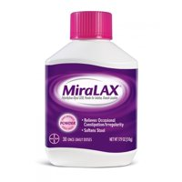 MiraLAX Polyethylene Glycol 3350 Powder Laxative, 17.9 Oz, 30 Dose
