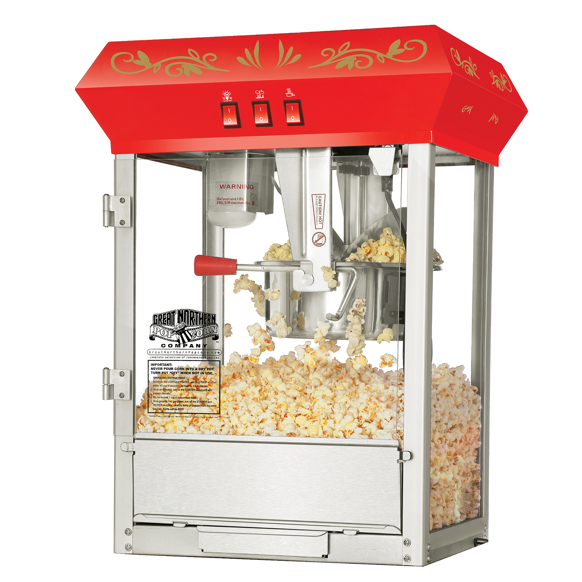 Foundation Popcorn Popper Machine, 8 Ounce by Great Northern Popcorn