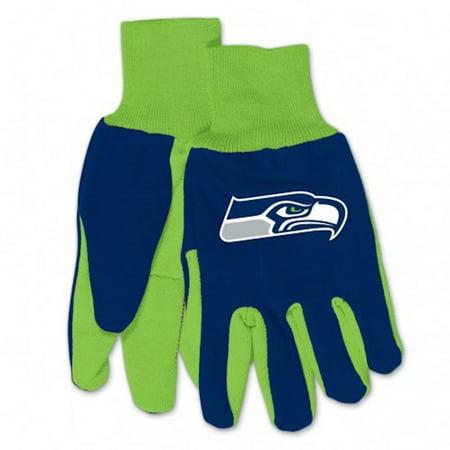 NFL Seattle Seahawks Neon Green/Blue - Neon Gloves