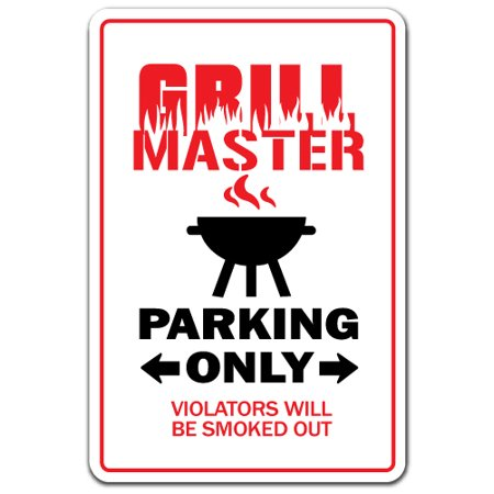 GRILL MASTER Decal BBQ cookout tailgating cook dad burger hot dogs | Indoor/Outdoor | 5