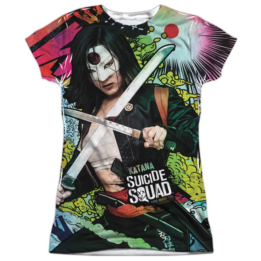 Suicide Squad Katana Psychedelic Cartoon Juniors Sublimation Shirt