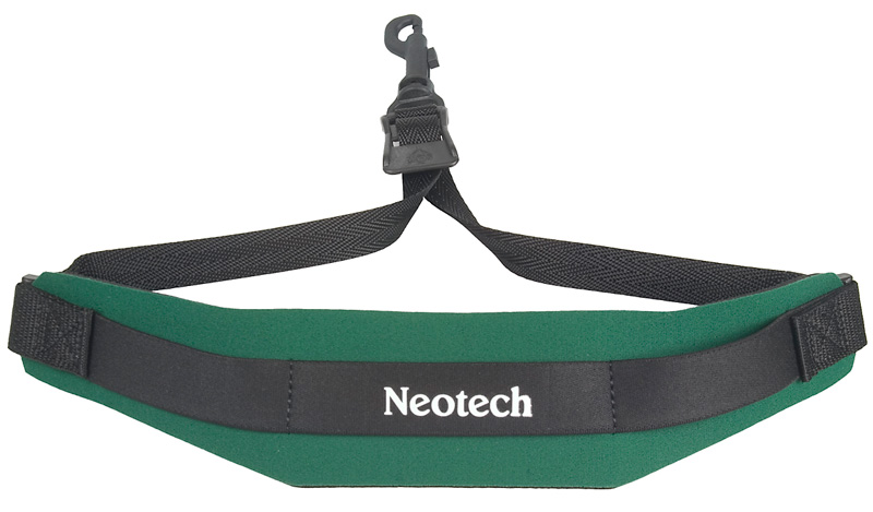 Neotech Soft Sax Strap in Forest Green with Swivel Hook by Neotech