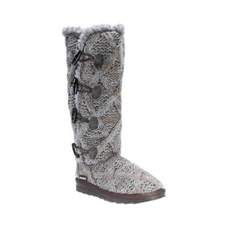 Women's Felicity Knitted Mid Calf Boot (Kids Silver Boots)