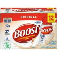 Boost Original Ready to Drink Nutritional Drink, Very Vanilla, 12 - 8 FL OZ Bottles