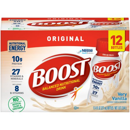 Boost Original Nutritional Drink, Very Vanilla, 8 Fl Oz, 12 Ct