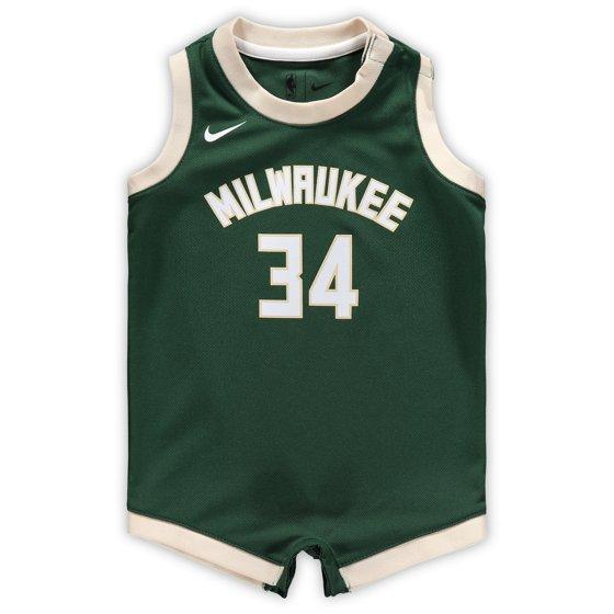 f60dcd4ad Giannis Antetokounmpo Milwaukee Bucks Nike Infant Replica Jersey Bodysuit - Hunter  Green - Walmart.com