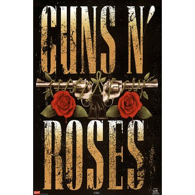 New Rise - Guns N Roses 80s Gun Logo Music Poster Print New 24x36