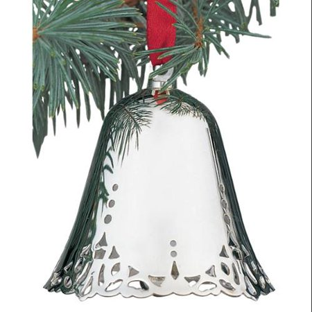 Silver Tone Christmas Bell Ornament