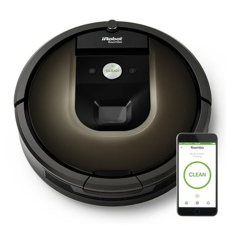 Hoover Steam Edge Cleaning Vacuums - iRobot Roomba 980 Wi-Fi Connected Robot Vacuum w/Manufacturer's Warranty