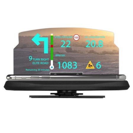 Car SUV HUD Head Up Display Navigation GPS Projector Phone Mount Bracket (Best Car Hud Display)