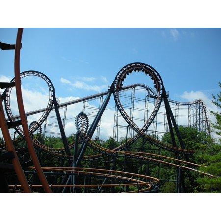 Canvas Print Park Roller Coaster Thrill Amusement Loop Ride Stretched Canvas 10 x (Vintage Amusement Parks)