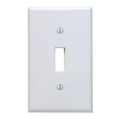 Leviton 88001 White Single Gang Toggle Light Switch Wall Plate