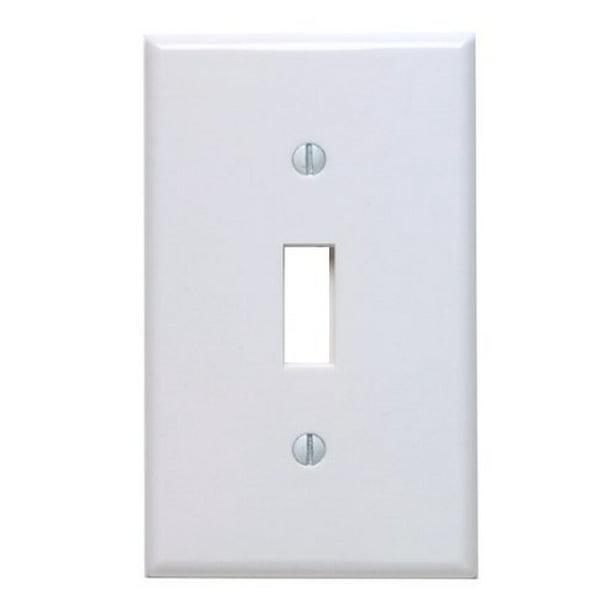 Leviton 88001 White Single Gang Toggle Light Switch Wall Plate Walmart Com Walmart Com