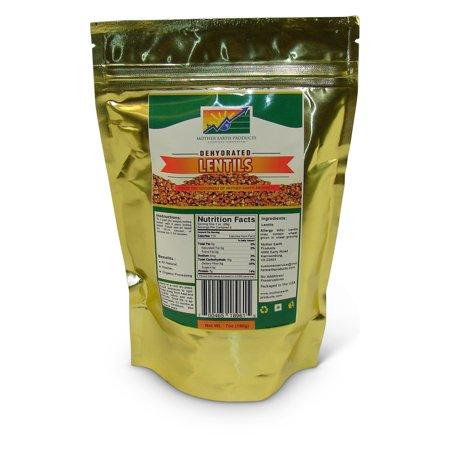 Dehydrated Lentils, 2 full cup Mylar Bag