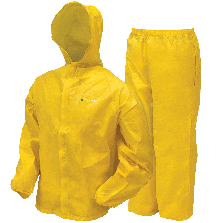 Frogg Toggs Youth Ultra-lite2 Waterproof Rain Suit - Medium, Yellow