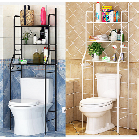 Yosoo Bathroom Space Saver 3 Tier Iron Toilet Towel Storage Rack