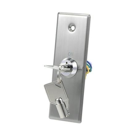 Key Switch Lock On/Off Exit Door Lock Emergency Door Release SPST for Access Control w 2 Keys