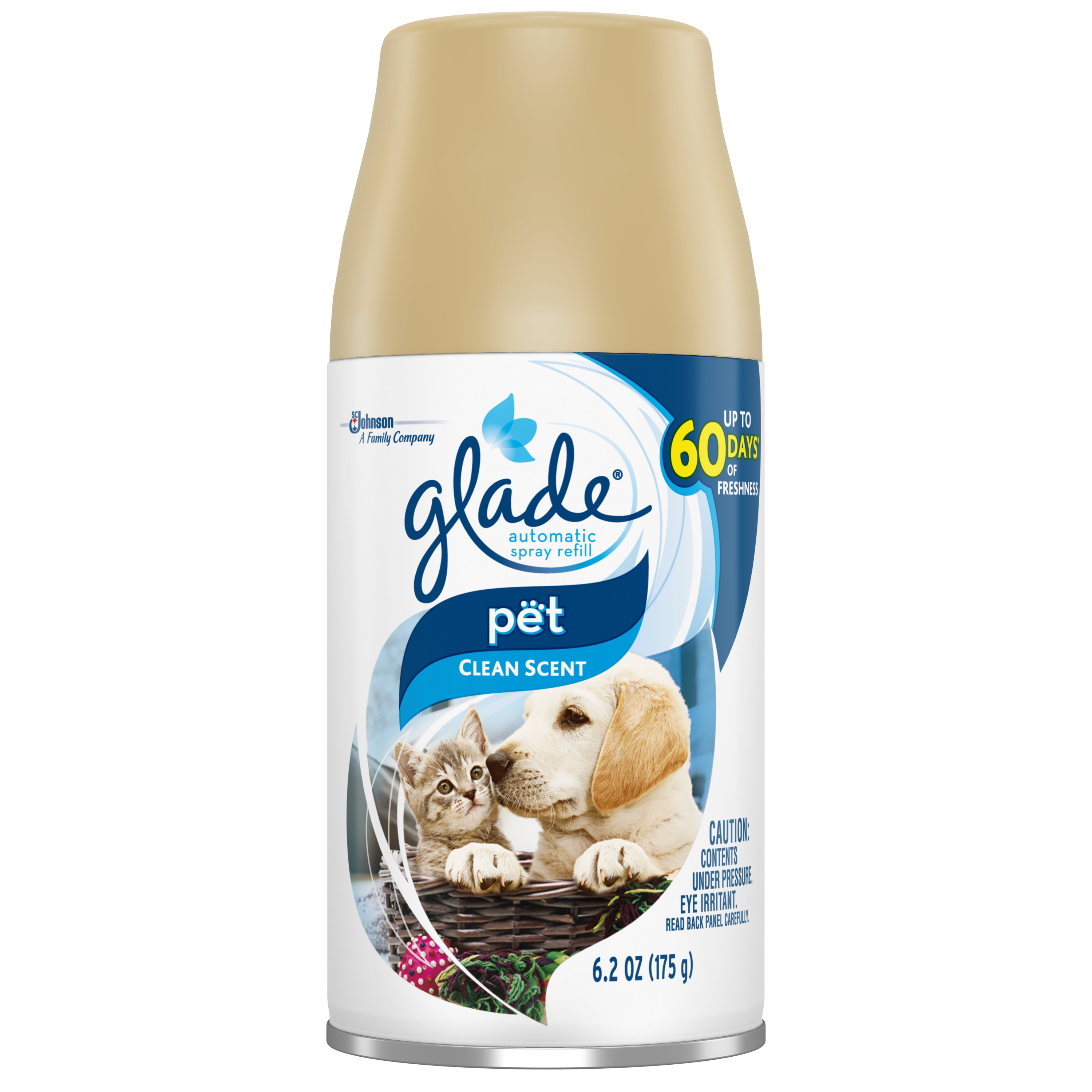 Glade Automatic Spray Air Freshener Refill, Pet Clean Scent, 6.2 oz