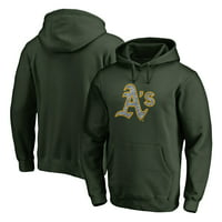 Oakland Athletics Fanatics Branded Static Logo Pullover Hoodie - Green