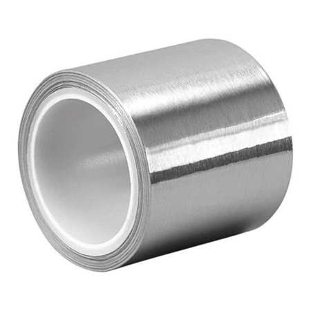 3M 3311 2 x 100yd Silver Aluminum Foil//Rubber Adhesive Tape 0.0036 Thick 2 Width 100 yd Length