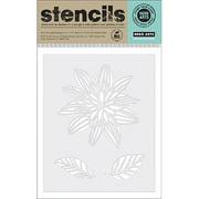 "Hero Arts Stencils 6.25""x5.25""-night Flo"