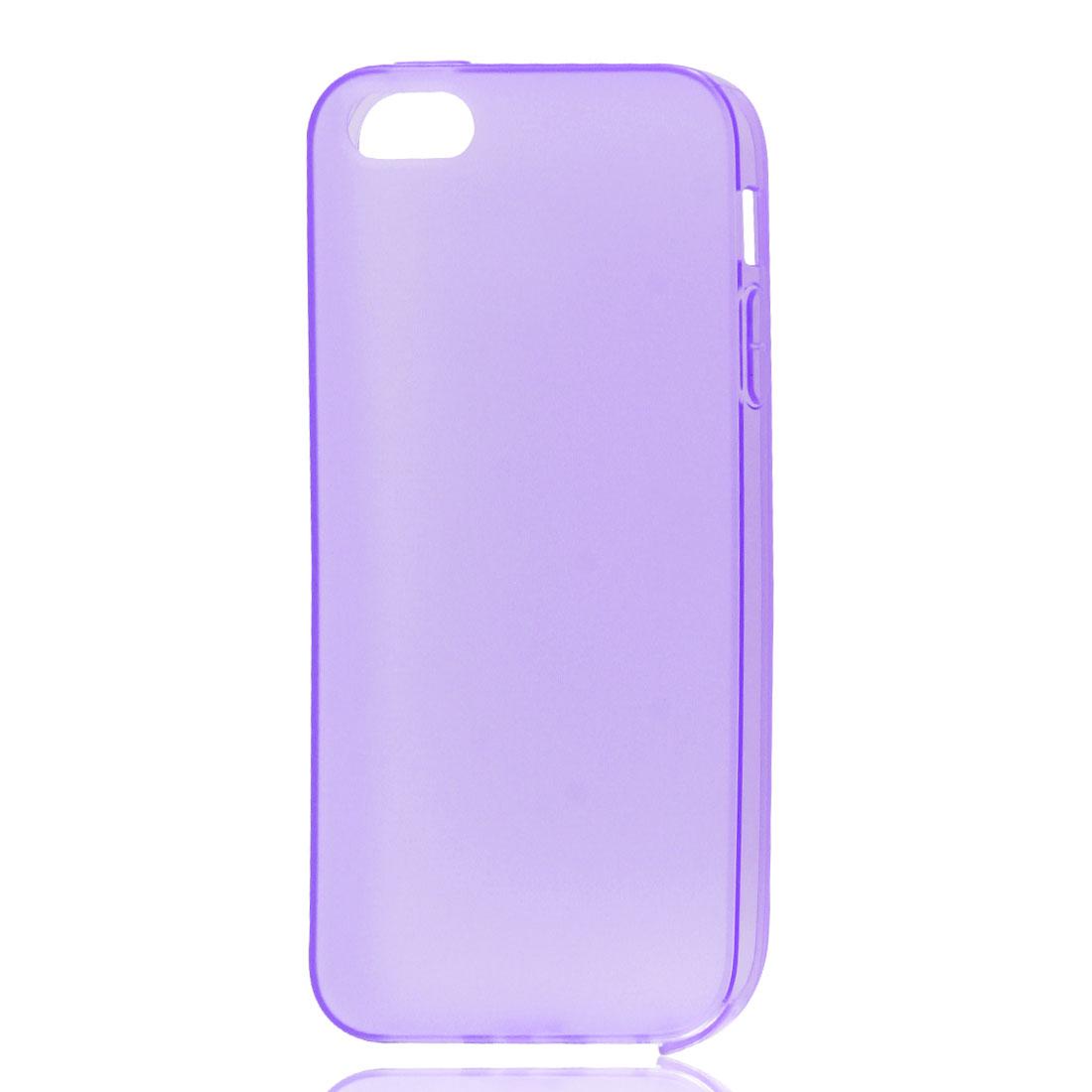 Purple Soft Plastic Matte Protective Case Cover Skin for Apple iPhone 5 5G - image 1 de 1