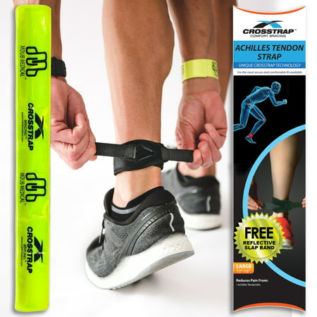 CROSSTRAP Achilles Strap, Large for Tendonitis Prevention in Running, Cycling, Hiking and Outdoor Fitness by MDUB