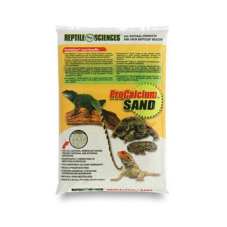 reptile sciences natural white pro calcium terrarium sand 10 lb