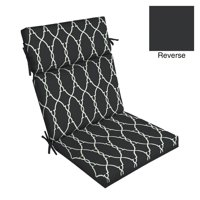 Better Homes & Gardens Black Trellis 44 x 21 in. Outdoor Dining Chair Cushion with EnviroGuard