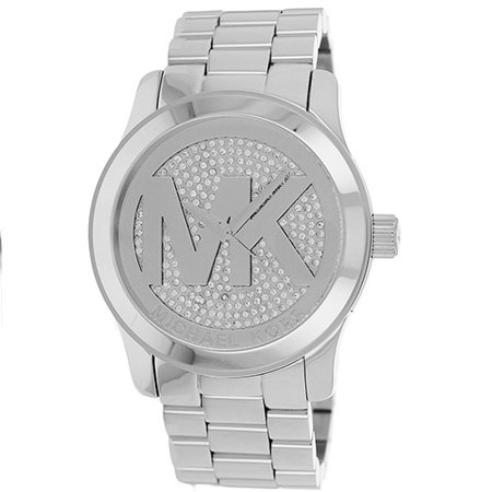 Michael Kors Womens Parker MK5544 Silver Stainless-Steel Quartz Dress Watch