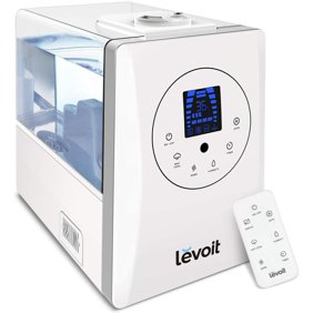 Levoit Humidifiers For Large Room Bedroom 6l Warm And Cool Mist Ultrasonic Air Vaporizer For Home Whole House Babies Customized Humidity Remote Control Whisper Quiet Black Walmart Com Walmart Com