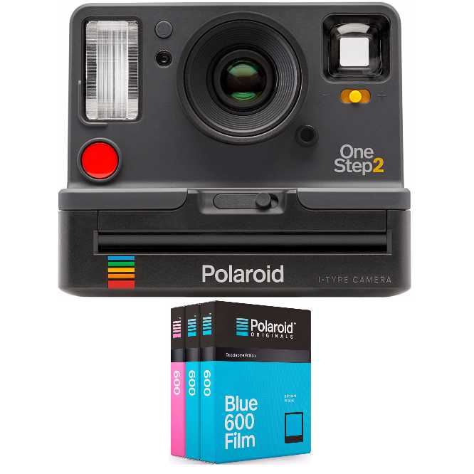 Polaroid OneStep2 i-Type Instant Camera (Grey) w  600 Duochrome Film Triple Pack by Polaroid Originals