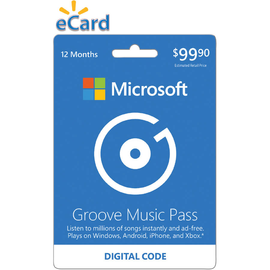 Microsoft Groove Music Pass 12 month (Email Delivery)