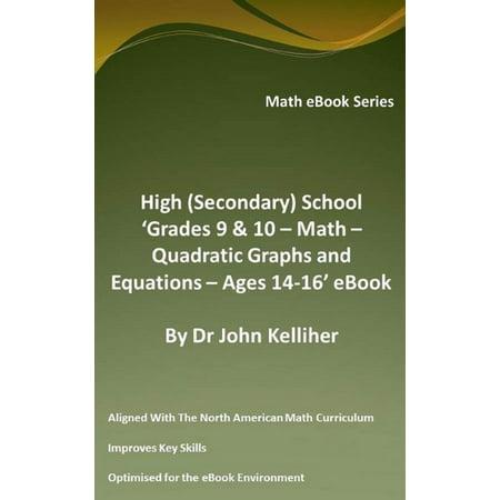 High (Secondary) School 'Grades 9 & 10 - Math – Quadratic Graphs and Equations – Ages 14-16' eBook -