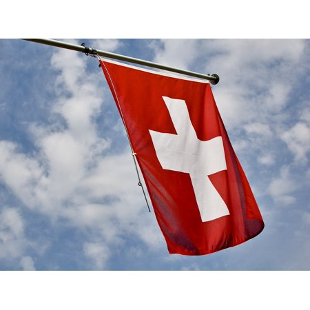 - LAMINATED POSTER Swiss Cross Switzerland Flag Red Confederates Poster Print 24 x 36