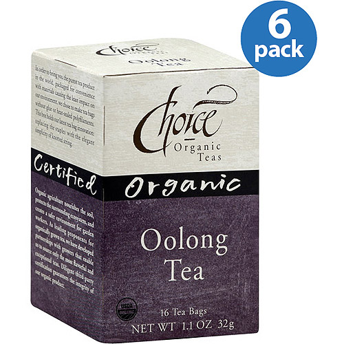 Choice Organic Teas Organic Oolong Tea, 16 count, (Pack of 6)