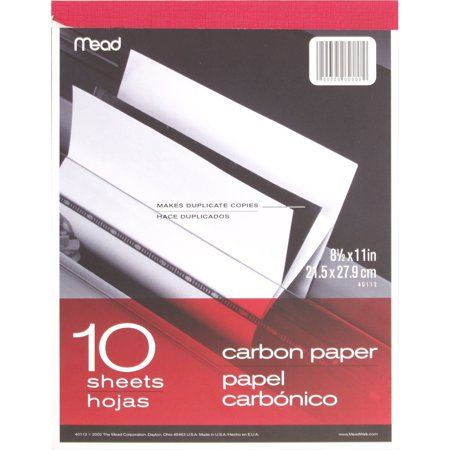 Mead, MEA40112, Carbon Paper Tablet, 1 Each, Black