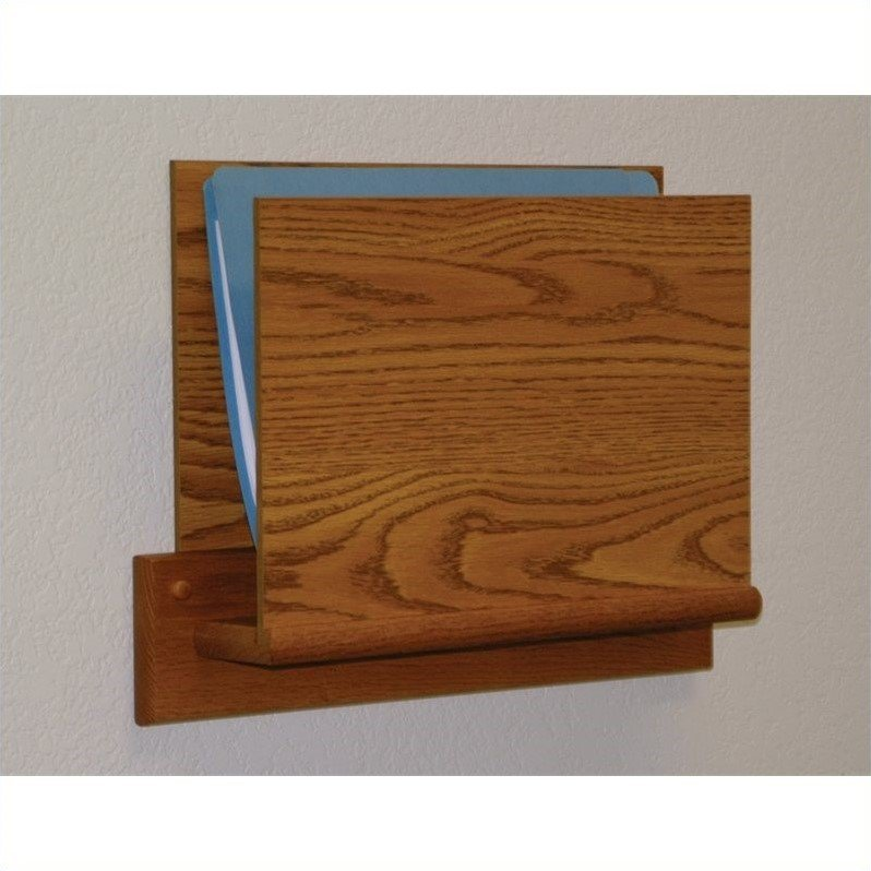 Wooden Mallet Open End Chart Holder with Square Bracket in Medium Oak